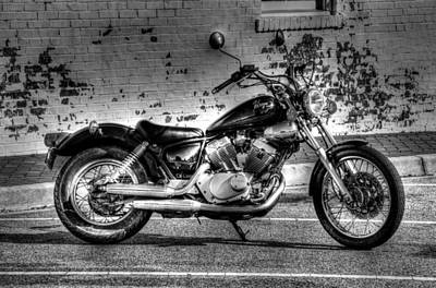 Photograph - Yamaha Virago 02 Bw by Andy Lawless