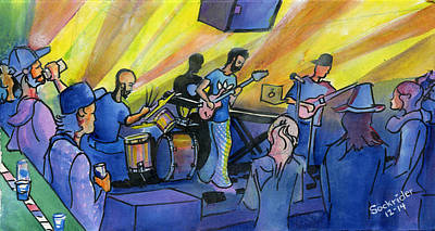 Painting - Yamn At The Barkley Ballroom by David Sockrider