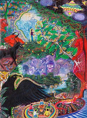 Brilliant Painting - Yana Huaman by Pablo Amaringo