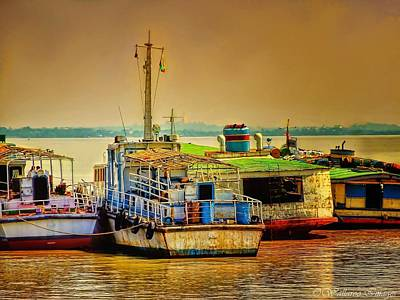 Photograph - Yangon Harbour by Wallaroo Images