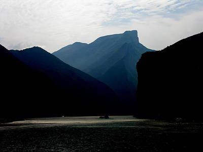 Photograph - Yangtze River - Qutang Gorge - Three Gorges by Jacqueline M Lewis