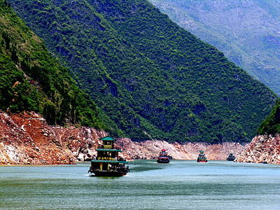 Photograph - Yangtze River - Three Gorges by Jacqueline M Lewis