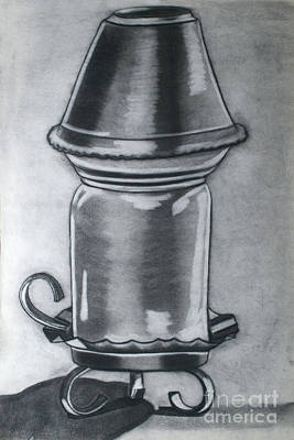 Yankees Drawing - Yankee Candle Holder by Cecilia Stevens