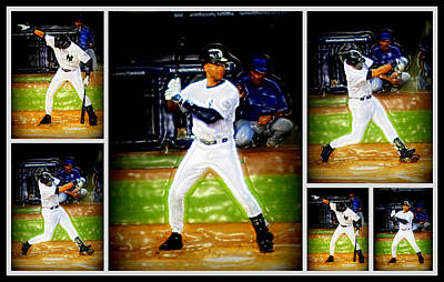 Yankee Stadium Digital Art - Yankee Captain Derek Jeter by Aurelio Zucco
