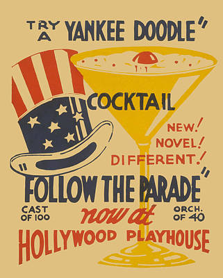 Yankee Doodle Cocktail Art Print by American Classic Art