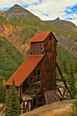 Photograph - Yankee Girl Mine Shaft House by Adam Jewell