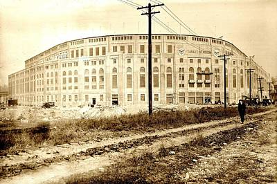 Athletes Royalty-Free and Rights-Managed Images - Yankee Stadium 1923 by Benjamin Yeager