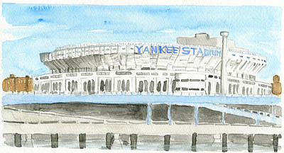 Yankee Stadium Mixed Media - Yankee Stadium 1980's by Dan  Orapello