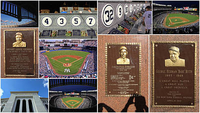 Photograph - Yankee Stadium Collage 2 by Allen Beatty