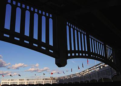 Photograph - Yankee Stadium Facade by Allen Beatty