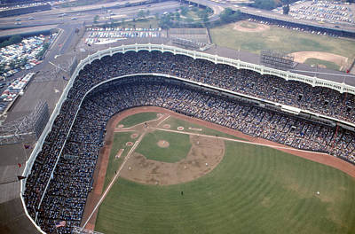 Old Yankee Photograph - Yankee Stadium From Above by Retro Images Archive