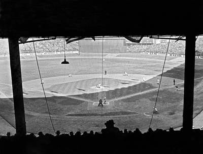Yankee Stadium Photograph - Yankee Stadium Grandstand View by Underwood Archives