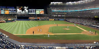 Derek Jeter Digital Art - Yankee Stadium by Jack Wachsstock