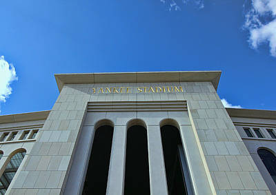 Photograph - Yankee Stadium Main Entrance by Allen Beatty