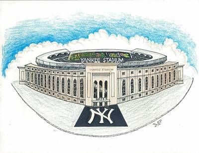 Yankee Stadium Mixed Media - Yankee Stadium by Marty Fuller
