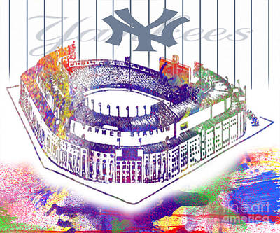 Yankee Stadium Digital Art - Yankee Stadium by Victor Arriaga