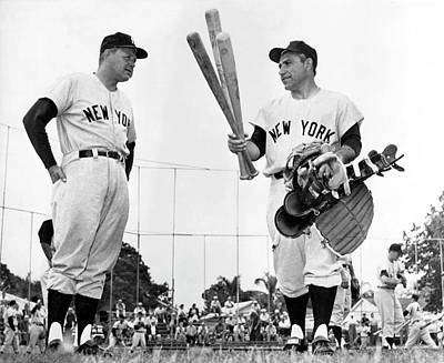 Photograph - Yankee Yogi Berra by Underwood Archives