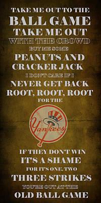 Yankees Peanuts And Cracker Jack  Art Print