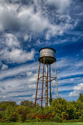 Photograph - Yansick Water Tower In Hdr by Guy Whiteley