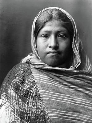 Yaqui Photograph - Yaqui Girl, C1907 by Granger
