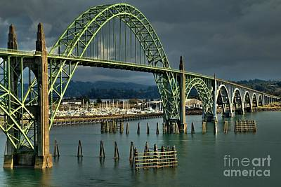 Yaquina Bay Bridge Photograph - Yaquina Bay Bridge by Adam Jewell