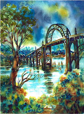 Painting - Yaquina Bay Bridge by Ann  Nicholson