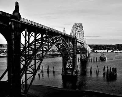 Yaquina Bay Bridge Photograph - Yaquina Bay Bridge by Benjamin Yeager