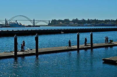 Photograph - Yaquina Bay Bridge In Newport by Kirsten Giving