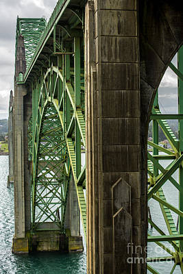 Yaquina Bay Bridge Photograph - Yaquina Bay Bridge - Newport - Oregon by Gary Whitton