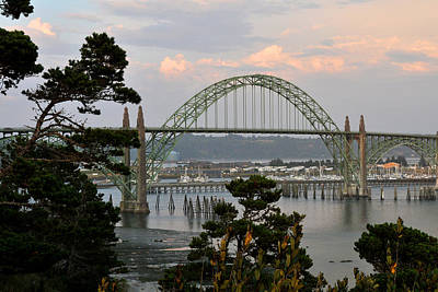 Photograph - Yaquina Bay Bridge by Rebecca Parker