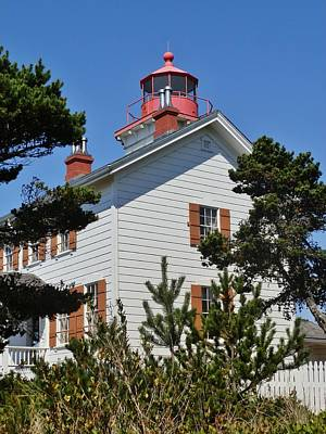 Photograph - Yaquina Bay Lighthouse 2 by VLee Watson