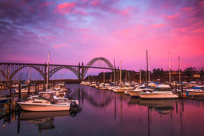Photograph - Yaquina Bay Sunrise by Darren  White