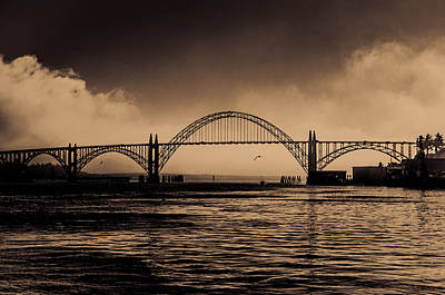Photograph - Yaquina Bridge by Steven Brodhecker