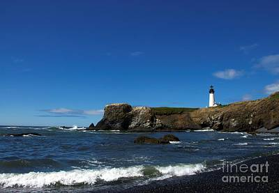 Photograph - Yaquina Head Light  3 by Mel Steinhauer