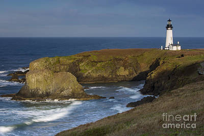 Photograph - Yaquina Head Light by Brian Jannsen