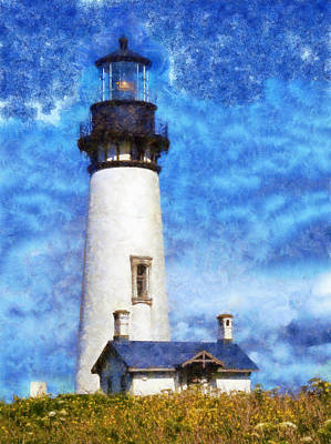 The Champagne Collection - Yaquina Head Light by Kaylee Mason