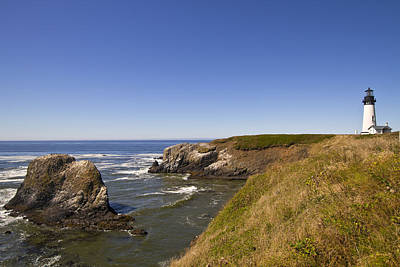 Sky Photograph - Yaquina Head Lighthouse 4 by David Gn