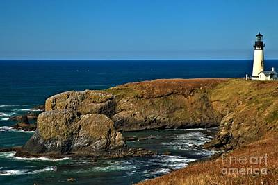 Photograph - Yaquina Head Lighthouse by Adam Jewell
