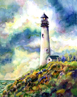 Painting - yaquina Head Lighthouse by Ann  Nicholson