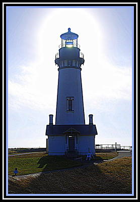 Photograph - Yaquina Head Lighthouse Blues by Kathy Sampson