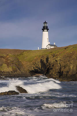 Photograph - Yaquina Head Lighthouse by Brian Jannsen