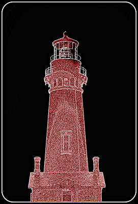 Digital Art - Yaquina Head Lighthouse II by Kathy Sampson