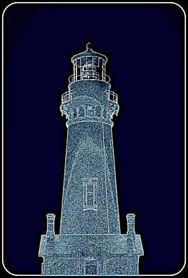 Digital Art - Yaquina Head Lighthouse IIi by Kathy Sampson