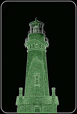 Digital Art - Yaquina Head Lighthouse IIII by Kathy Sampson