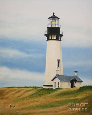 Yaquina Head Lighthouse Art Print by Jimmie Bartlett