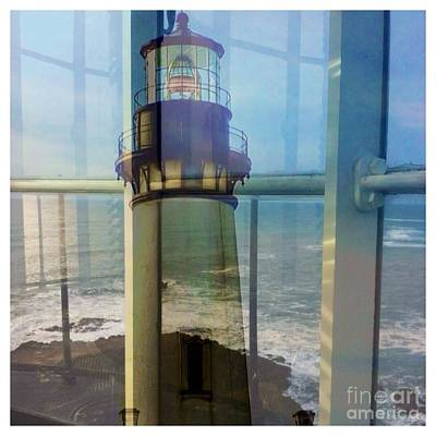 Photograph - Yaquina Head Lighthouse Mirage  by Susan Garren