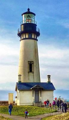 Photograph - Yaquina Head Lighthouse Oregon   by Susan Garren