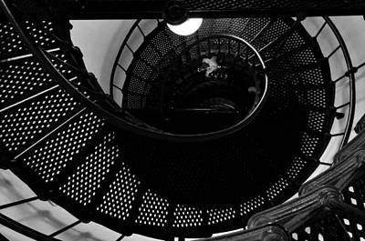 Photograph - Yaquina Head Lighthouse Stairway by Rebecca Parker