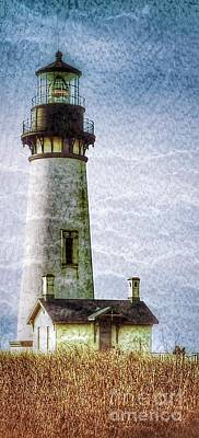 Photograph - Yaquina Head Lighthouse Texture 3 by Susan Garren