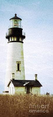 Photograph - Yaquina Head Lighthouse Texture 4 by Susan Garren